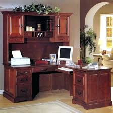 office corner desk with hutch. Corner Office Desk Ideas Using Brown Cherry Computer With Hutch And .