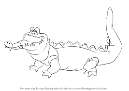 crocodile drawing for kids. Simple Crocodile Learn How To Draw The Crocodile From Peter Pan Peter Pan Step By   Drawing Tutorials Throughout For Kids E