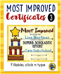 Certificates Most Improved Awards 3