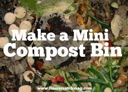 make a mini compost bin