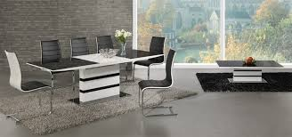 black glass white high gloss extending dining high gloss dining table and 6 chairs as dining
