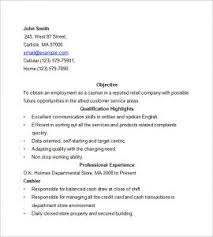 Cashier Resume Sample Cashier Resume Sample Template Business
