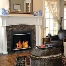 modern fireplace doors glass and screens starting contemporary brushed nickel
