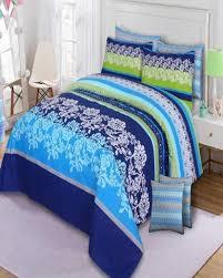 multicolor cotton king size bedsheet set 3pcs