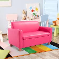 hom children sofa pu leather pink
