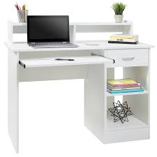White work desk Choice Products Best Choice Products Commercial Home Computer Laptop Work Station Desk Table W Removable Shelf Divider Open Back For Home College Office White Walmart Best Choice Products Commercial Home Computer Laptop Work Station