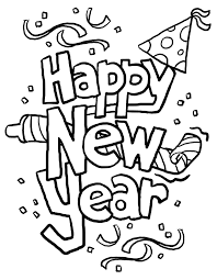 Happy New Year Coloring Sheets 2016 L L Duilawyerlosangeles