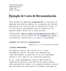 Carta De Recomendacion Personal No Laboral Carta De Recomendacion Personal En Word Corto Foreversammi Org