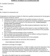 invitation to bid letter template