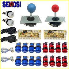 zero delay arcade joystick ons diy parts usb encoder to pc kit happ style long arcade
