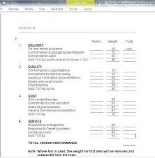 Sample Assessment Form Advertisements Performance Presentation Evaluation Template Vendor
