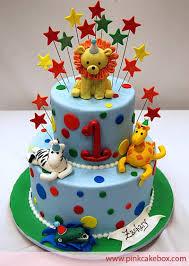 1st Birthday Animal Cake Childrens Cakes Cakes Unique Birthday