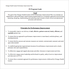 Personal Improvement Plan Template 10 Performance Improvement Plan Templates Free Sample