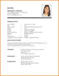 9 Sample Resume For Job Application Pdf Global Strategic Sourcing