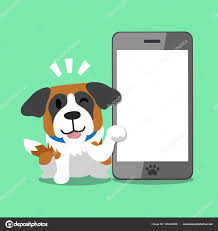 Cartoon character saint bernard dog and ...
