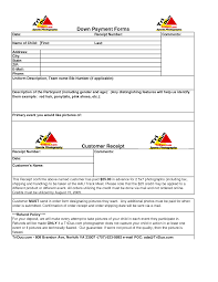 Paid Receipt Form Outstanding Customer Down Payment Receipt Form And Template
