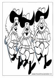 Sprookjes 3 Musketiers Kleurplaat Personen Sprookjes