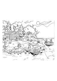 Disegno Da Colorare Vacanza Sul Lago Cat 9655 Images
