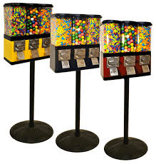 Sweet Vending Machine For Sale Mesmerizing LYPC Triple Pod Candy Gumball Vending Machine 48