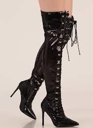 walk tall sequin thigh high boots black