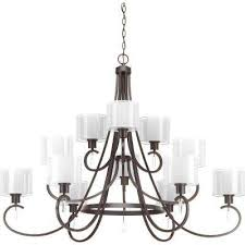 invite collection 12 light antique bronze chandelier with shade