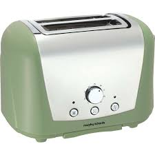 Sage Green Kitchen Accessories Morphy Richards 222251 Accents 2 Slice Toaster In Sage Green