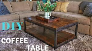 Diy rustic coffee table Tables Ideas Diy Rustic Coffee Table Youtube Diy Rustic Coffee Table Youtube