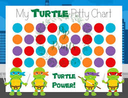 Ninja Turtle Potty Training Chart Printable Teenage Mutant Ninja Turtle Potty Training Chart