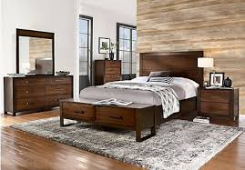 Abbott Hazelnut 7 Pc King Panel Bedroom With Storage
