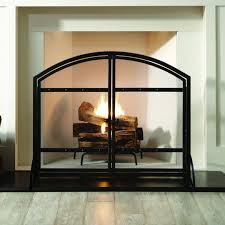 fireplace screens with doors. Source: Pleasant Hearth Harper Arched Fireplace Screen With Doors Screens W