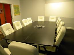varnished oak wood conference table