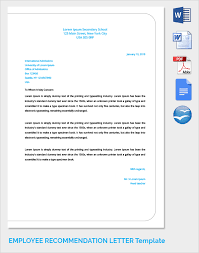 Recommendation Letter For Employment Enchanting 44 Sample Recommendation Letters Sample Templates