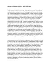 andrew jackson study resources 1 page dwriting assignment andrew jackson