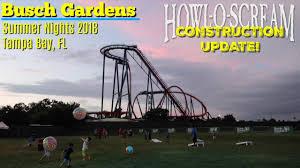 busch gardens tampa bay summer nights 2018 howl o scream 2018 updates construction