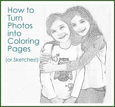 How To Turn Photos Into Coloring Pages Or Sketches Crafts Diy