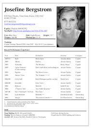 Acting Resume Template Berathen Com