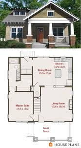 small bungalow house plans.  House Small Craftsman Bungalow Floor Plan And Elevation For Bungalow House Plans Pinterest