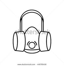 indoor air pollution stock images, royalty free images & vectors Houseplants For Clean Air respirator icon in outline style isolated on white background houseplants for cleaner air