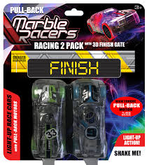 Light Up Marble Racer Pull Back Marble Racers 2 Pack With Finish Gate