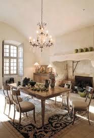 rustic crystal chandelier dining room