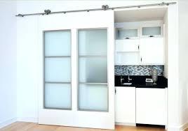 sliding glass barn door on exposed tracks doors for shower images