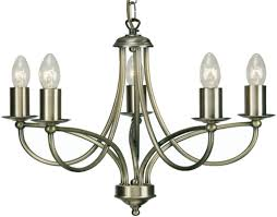 oaks lighting loop 5 light ceiling light antique brass 2711 5 ab