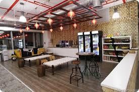 Google office cafeteria Inside Canteenfb Mani Karthik Google India Office Vs Facebook India Officewhos Cool