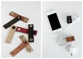 ... DIY Leather Cord Organizers // Delia Creates