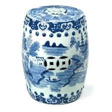 blue ceramic garden stool canton garden stool cobalt blue ceramic garden stool