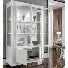 fascinating white display cabinet of italian modern 2 door dama within ideas 11