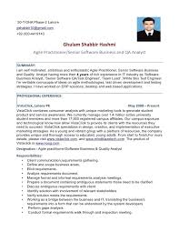 Quality Analyst Resume Practical Print Agile Practitioner Senior