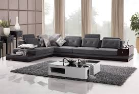 Modern Style Sectional Sofa Modern Sectional In Slate Color