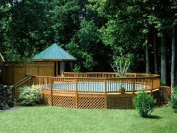 above ground round pool with deck. Round Pool With Walk Deck Above Ground O