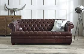 baron brown leather chesterfield sofa ulthbaw